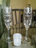 wedding glasses engraved on