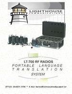 Draagbare apparatuur voor simultaan tolken