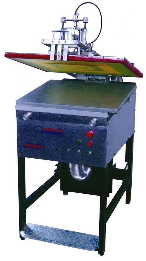 Machine of semi-automatic silkscreen printing