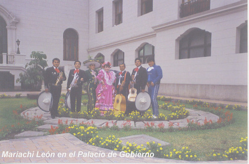 Mariachis in the Government Palace in Lima-peru-mariachi show
