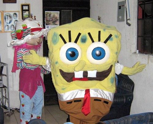 pink and SpongeBob
