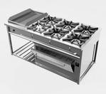 06 Cozinha Industrial com queimadores e forno de ferro