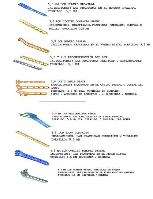 placas de femur y tibia