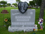 GREY GRANITE MONUMENT WITH A HEART graft