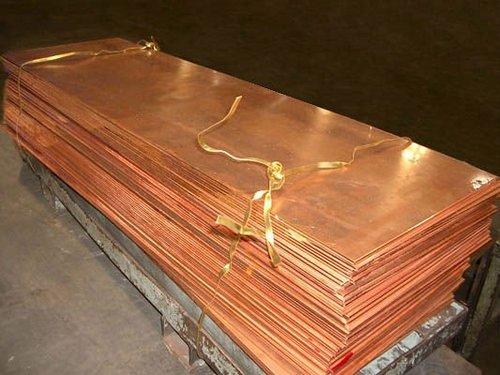 planchas de cobre electrolitico