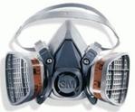 respirador de 3M serie 6200 con cartuchos