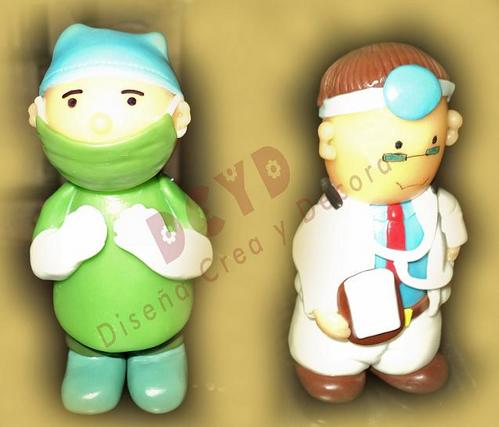Souvenirs Mèdicos en Porcelana Fria