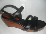 sandalia en cuero para mujer, plataforma de 6 cm liviana