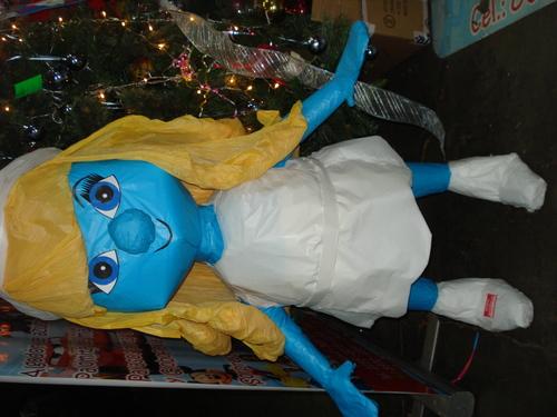 piñata de pitufina