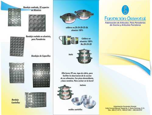 cooking wares in aluminium