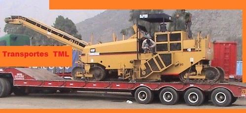 transporte de maquinaria carga ancha