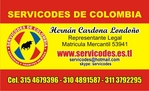 servicodes business card from Colombia
