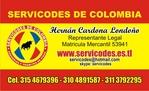 servicodes cartão de visita da Colômbia