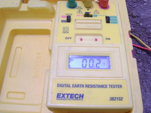 medicion de resistencia de tierra