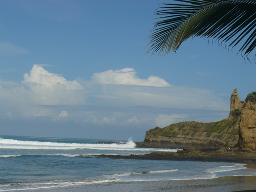 The famous Punta Montanita, 30 meters from our raft surf camp!