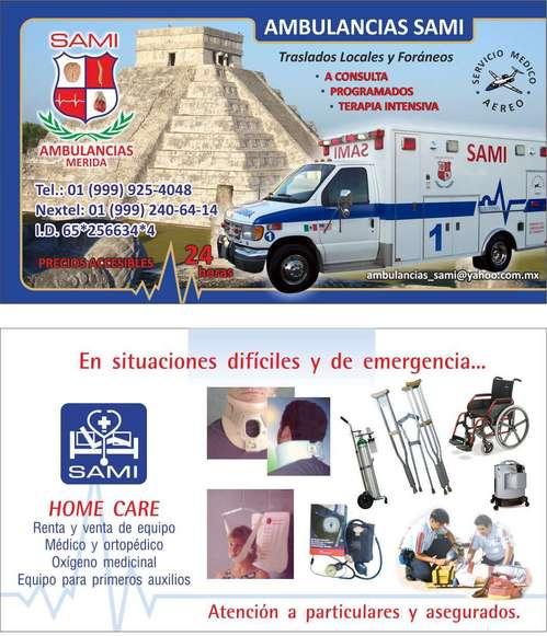 Ambulancias Merida SAMI ambulancias