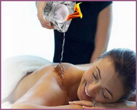 Massagens com velas perfumadas