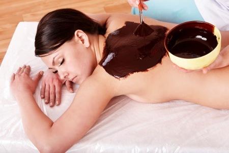 Massagem de chocolate