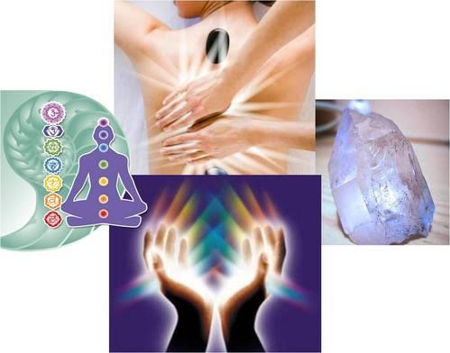 Die Behandlung Harmonizing Farbtherapie, Reiki, cuarzoterapia
