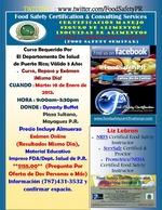 Curso de Inocuidad de Alimentos en Mayaguez