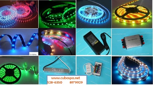 Tiras leds flexibles de colores rgb