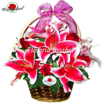 Lilies and Roses Basket