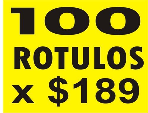 100 Rotulos x $189.00