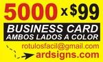 Presentation card 5000 x $ 99.00