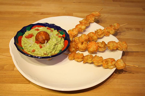 Shrimp Skewers.
