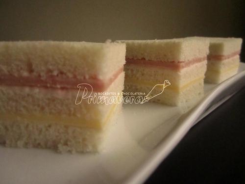 triplecitos jamón - queso