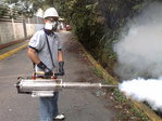 SPRAYING FOR MOSQUITOES AND GAS WITH MOSQUITO