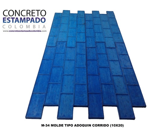 Concreto estampado colombia fabricantes de molde for Hormigon impreso chile