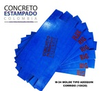 STAMPING CONCRETE OF COLOMBIA. Mould 100% POLYURETHANE