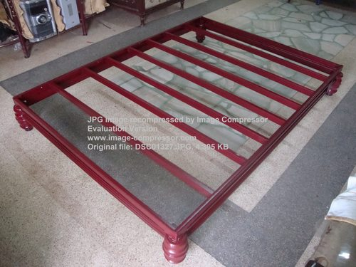metalen voet bed