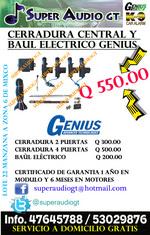 CERRADURA CENTRAL Y BAUL ELECTRICO