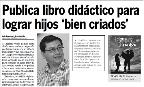 Publicación en diario Local
