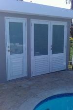 Sicherheits-Tür mit Fenster