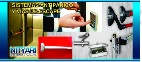 Panic bars, door closers and Hydraulic Arms