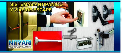 Paniek bars, deursluiters en hydraulische armen