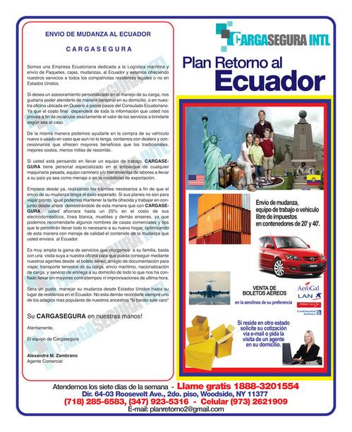 su agencia de carga cerca del consulado ecuatoriano en queens
