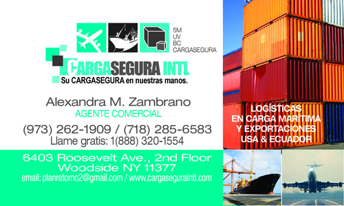 maritime cargo to Ecuador and Rest of World