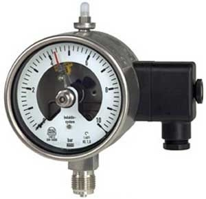 Electrical contact manometer