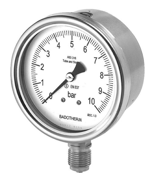 All stainless steel gauge different ranges