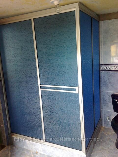 Gabinetes Para Baño Aluminio:es una cabina para baño en forma de ele especialmente para encerrar