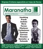 Trajes de Novio Maranatha Av Larco 345 - Tda116 Miraflores Tel:4860894