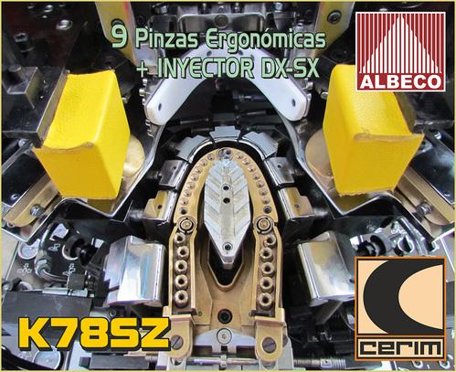 NUEVE ( 9 ) PINZAS ERGONOMICAS DE ARMADORAS HARFORT - CERIM - ALBECO