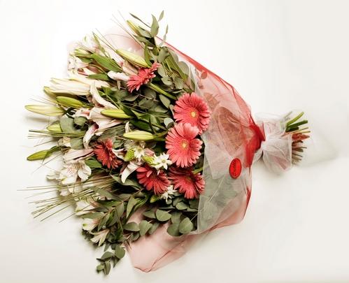 Frühlings-Blumenstrauß Premium-