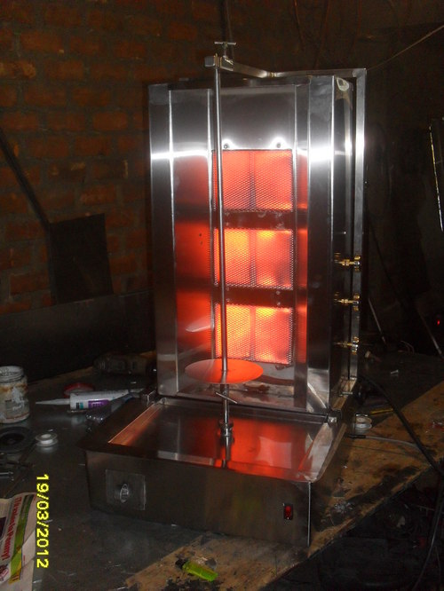 horno shawarma en acero inox