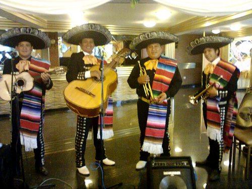 Mariachis in downtown Lima, Sones de Mexico Mariachi