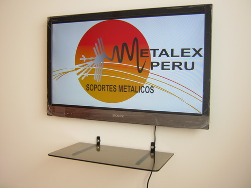 Fixed type rack frame + glass support - Metalex Peru